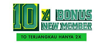 10% Bonus New Member
